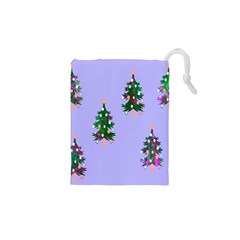 Watercolour Paint Dripping Ink  Drawstring Pouches (XS)