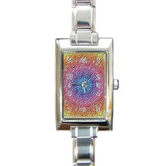 Tile Background Pattern Texture Rectangle Italian Charm Watch