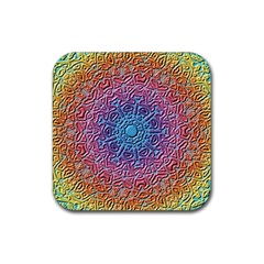 Tile Background Pattern Texture Rubber Square Coaster (4 pack)