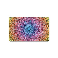 Tile Background Pattern Texture Magnet (Name Card)