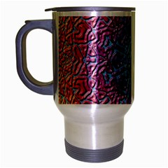 Tile Background Pattern Texture Travel Mug (Silver Gray)