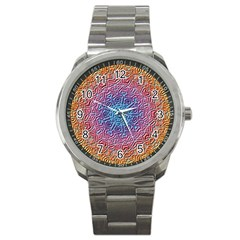 Tile Background Pattern Texture Sport Metal Watch