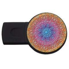 Tile Background Pattern Texture USB Flash Drive Round (4 GB)
