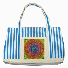 Tile Background Pattern Texture Striped Blue Tote Bag