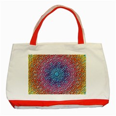 Tile Background Pattern Texture Classic Tote Bag (Red)