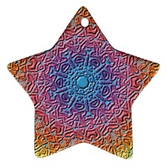 Tile Background Pattern Texture Star Ornament (Two Sides)