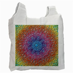 Tile Background Pattern Texture Recycle Bag (One Side)