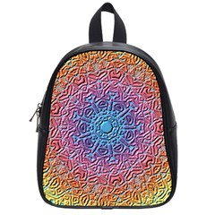 Tile Background Pattern Texture School Bags (Small)