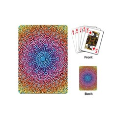 Tile Background Pattern Texture Playing Cards (Mini)