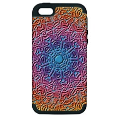 Tile Background Pattern Texture Apple iPhone 5 Hardshell Case (PC+Silicone)