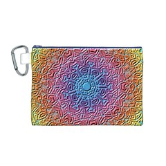Tile Background Pattern Texture Canvas Cosmetic Bag (M)