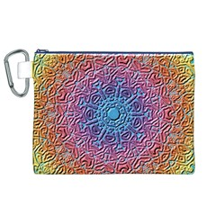 Tile Background Pattern Texture Canvas Cosmetic Bag (xl)