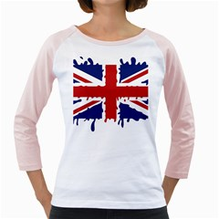 Uk Splat Flag Girly Raglans