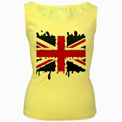 Uk Splat Flag Women s Yellow Tank Top