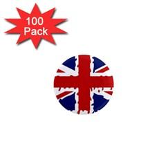 Uk Splat Flag 1  Mini Magnets (100 pack)