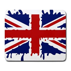 Uk Splat Flag Large Mousepads