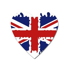 Uk Splat Flag Heart Magnet