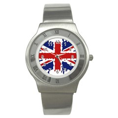 Uk Splat Flag Stainless Steel Watch