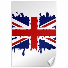 Uk Splat Flag Canvas 20  X 30