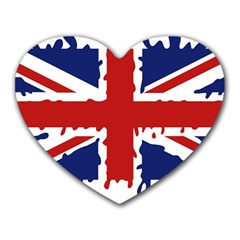Uk Splat Flag Heart Mousepads
