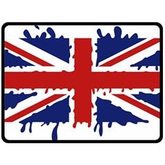 Uk Splat Flag Fleece Blanket (Large)