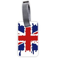 Uk Splat Flag Luggage Tags (Two Sides)