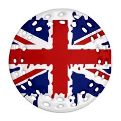 Uk Splat Flag Ornament (Round Filigree)