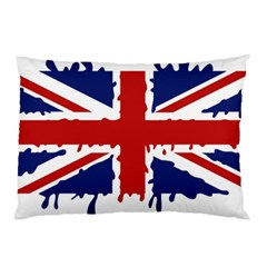 Uk Splat Flag Pillow Case (Two Sides)