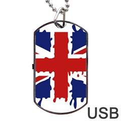 Uk Splat Flag Dog Tag USB Flash (One Side)