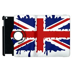 Uk Splat Flag Apple iPad 2 Flip 360 Case