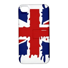 Uk Splat Flag Apple iPhone 4/4S Hardshell Case with Stand