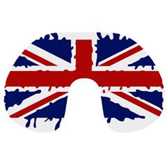 Uk Splat Flag Travel Neck Pillows