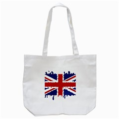 Uk Splat Flag Tote Bag (White)