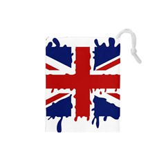 Uk Splat Flag Drawstring Pouches (Small)
