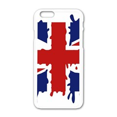 Uk Splat Flag Apple Iphone 6/6s White Enamel Case