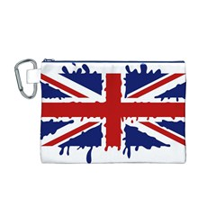 Uk Splat Flag Canvas Cosmetic Bag (m)