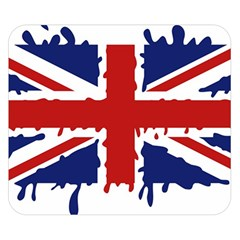 Uk Splat Flag Double Sided Flano Blanket (Small)