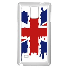 Uk Splat Flag Samsung Galaxy Note 4 Case (White)