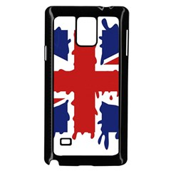 Uk Splat Flag Samsung Galaxy Note 4 Case (black)