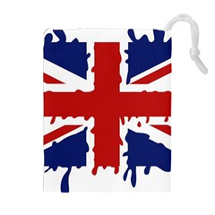 Uk Splat Flag Drawstring Pouches (Extra Large)