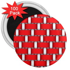 Weave And Knit Pattern Seamless Background Wallpaper 3  Magnets (100 pack)