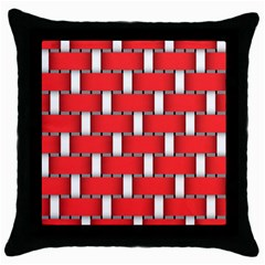 Weave And Knit Pattern Seamless Background Wallpaper Throw Pillow Case (Black)