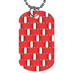 Weave And Knit Pattern Seamless Background Wallpaper Dog Tag (One Side)