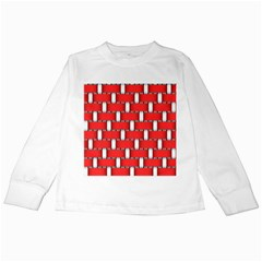 Weave And Knit Pattern Seamless Background Wallpaper Kids Long Sleeve T-Shirts
