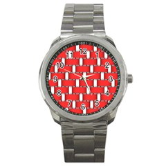 Weave And Knit Pattern Seamless Background Wallpaper Sport Metal Watch
