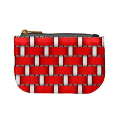 Weave And Knit Pattern Seamless Background Wallpaper Mini Coin Purses