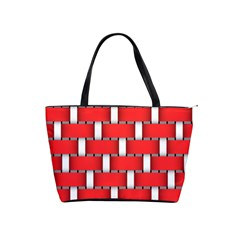 Weave And Knit Pattern Seamless Background Wallpaper Shoulder Handbags