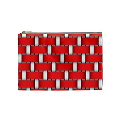 Weave And Knit Pattern Seamless Background Wallpaper Cosmetic Bag (Medium)