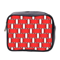 Weave And Knit Pattern Seamless Background Wallpaper Mini Toiletries Bag 2-Side
