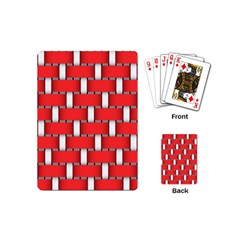 Weave And Knit Pattern Seamless Background Wallpaper Playing Cards (Mini)